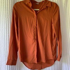 ASOS Burnt Orange Button Down Blouse